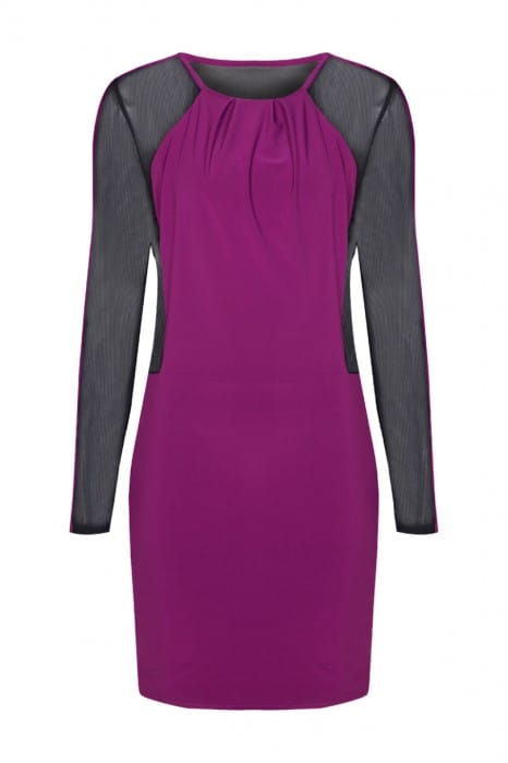 empress-mini-body-con-dress-front-magenta