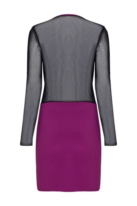 empress-mini-body-con-dress-back-magenta