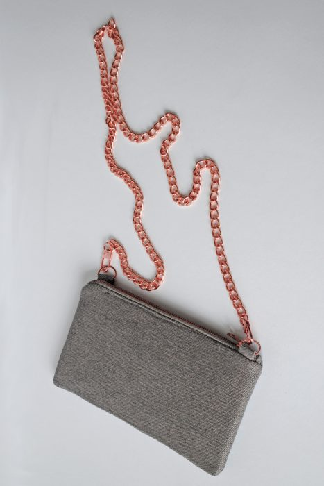 Grey and Rose Gold Bag
