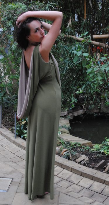 Backless Cowl Dress