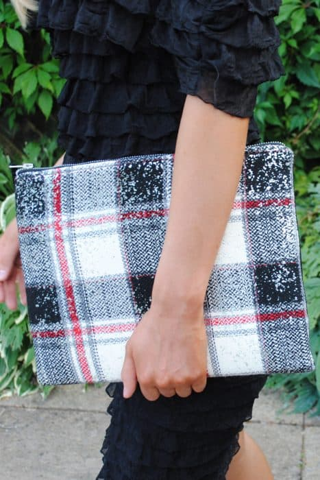 Plaid Oversized Clutch
