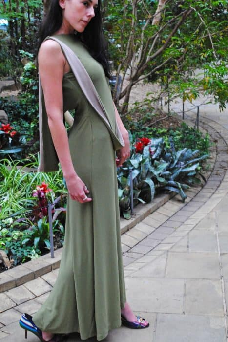 Backless Cowl Back Maxi Dress