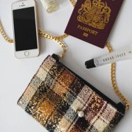Small Plaid Clutch Bag