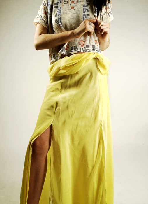Lemon Maxi Skirt