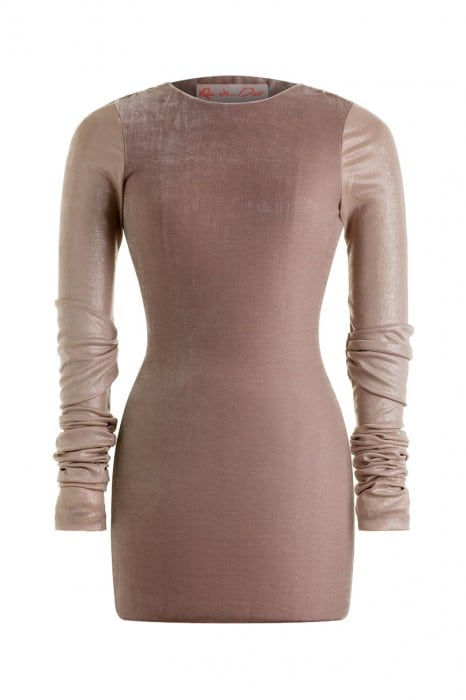nuclear-mini-dress-beige